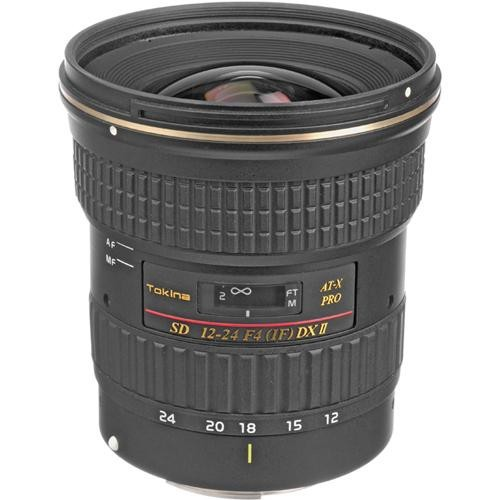 Tokina 12-24mm f/4 AT-X 124AF Pro DX II Autofocus Lens for Canon Digital Cameras