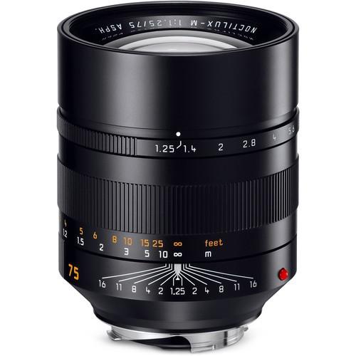 Leica 75mm F1.25 Noctilux-M ASPH. - Black (11676)