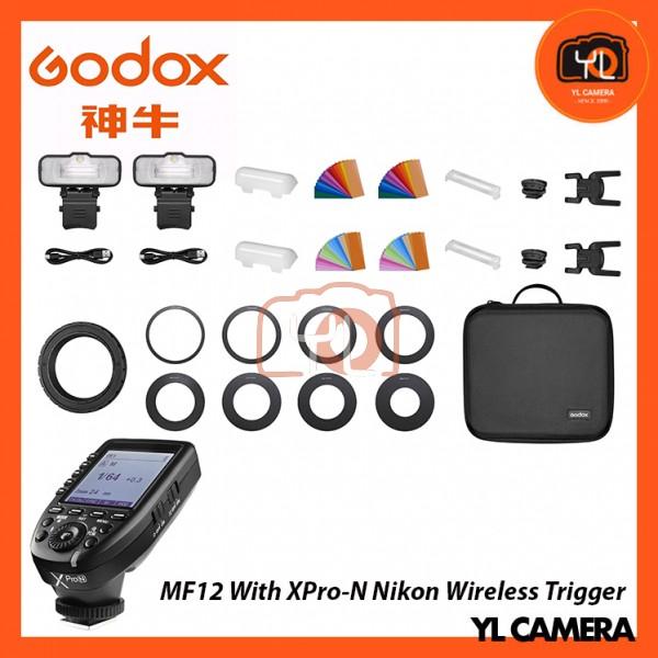 Godox MF12 Macro Flash 2-Light Kit With XPro-N Nikon Wireless Trigger