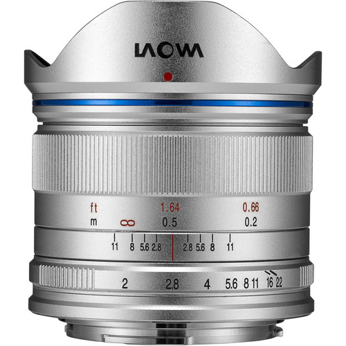 Venus Optics Laowa 7.5mm f/2 MFT Lens for Micro Four Thirds (Silver)
