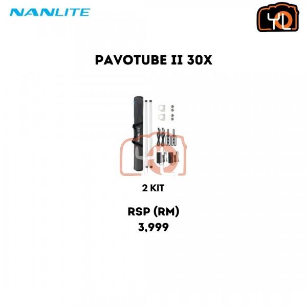 Nanlite PavoTube II 30X RGBWW LED Pixel Tube 2-Light Kit with Internal Battery