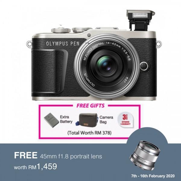 (Flash SALE) Olympus E-PL9 +  M.Zuiko 14-42mm EZ (Black) [Free Lexar 32GB 95MB SD Card + Benro ELZ10 Camera Bag]