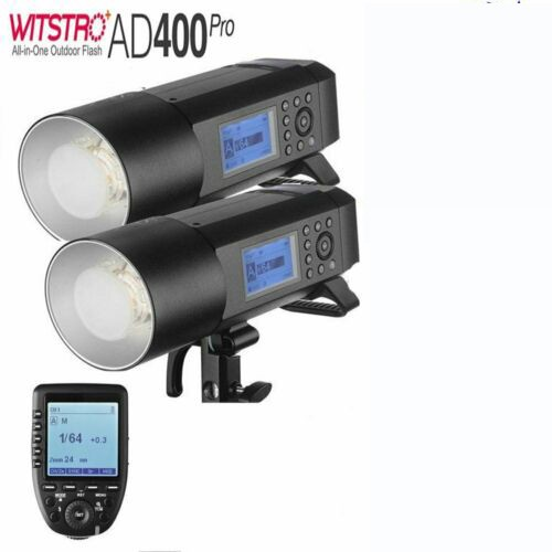 Godox AD400Pro Witstro All-In-One Outdoor Flash XPro-O Fro Olympus/Panasonic 2 Light Combo Set