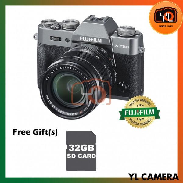 Fujifilm X-T30 (Charcoal/Silver) + XF 18-55mm f/2.8-4R LM OIS [Free 32GB SD Card]