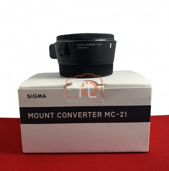 [USED-PJ33] Sigma MC-21 Lens Adapter (Canon EF To L Mount) 95% Like New Condition (S/N:53899328)