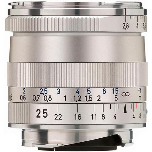 ZEISS Biogon T* 25mm F2.8 ZM Lens (Silver)