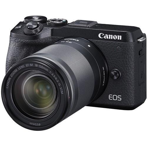Canon EOS M6 Mark II + EF-M 18-150mm F3.5-6.3 IS STM - Black (Free 32GB SD Card + Camera Bag)