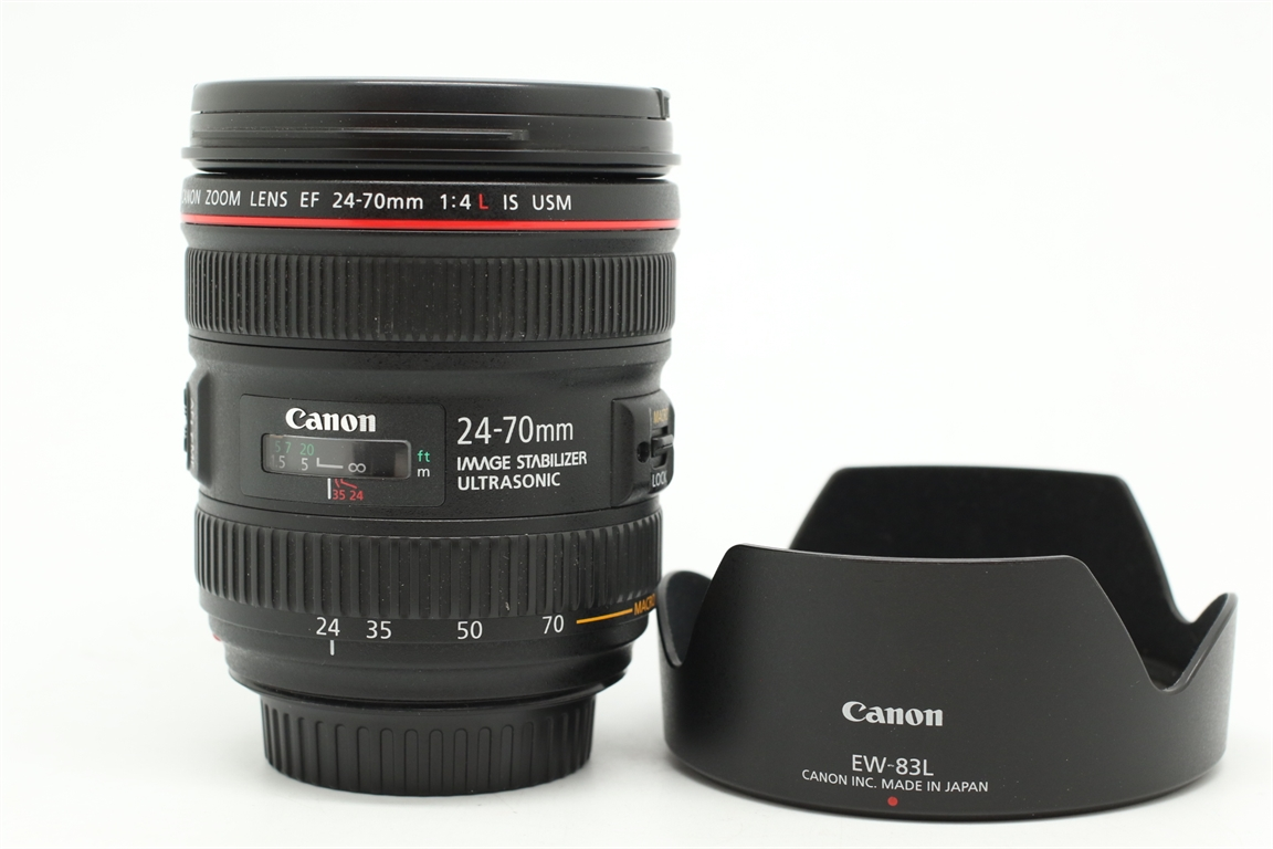 [USED-PUDU] CANON 24-70MM F4 L IS EF USM LENS 90%LIKE NEW CONDITION SN:9600008513