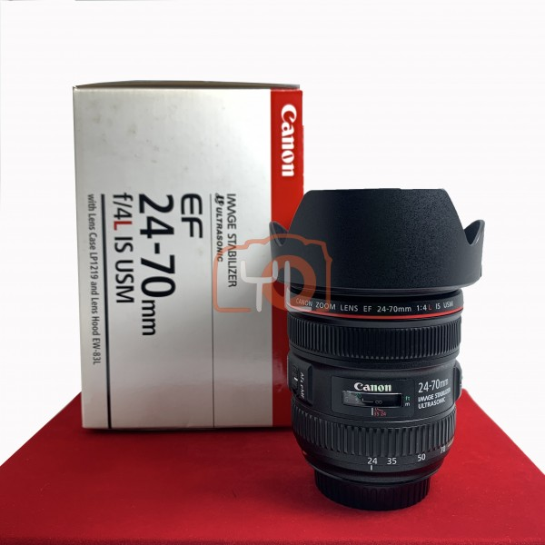 [USED-PJ33] Canon 24-70MM F4 L IS USM EF , 95% Like New Condition (S/N:9600005340)