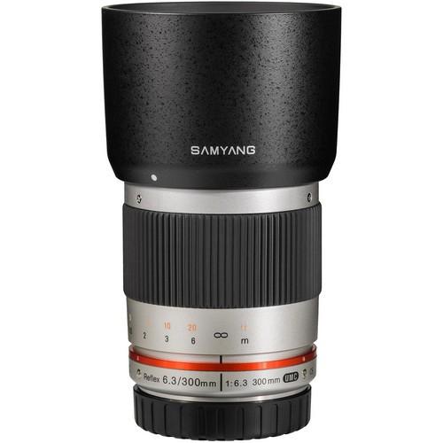 Samyang 300mm F6.3 ED UMC CS Lens for Canon M Mount (Silver)