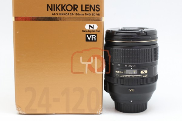 [USED-PUDU] Nikon 24-120mm F4G AFS VR Lens 88%LIKE NEW CONDITION SN:62006315