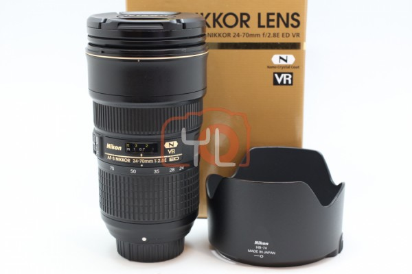 [USED-PUDU] Nikon 24-70MM F2.8E AFS VR ED Lens 88%LIKE NEW CONDITION SN:2015238