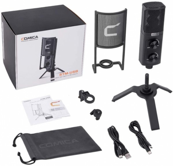 (PRE-ORDER) Comica STM-USB Versatile Studio-Quality USB Cardioid Condenser Microphone for Games,Streaming Broadcast,YouTube Video Recording