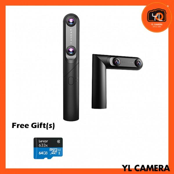 Kandao QooCam Interchangeable 4K 360/3D/180/VR Camera (Free 64GB MicroSD Card)