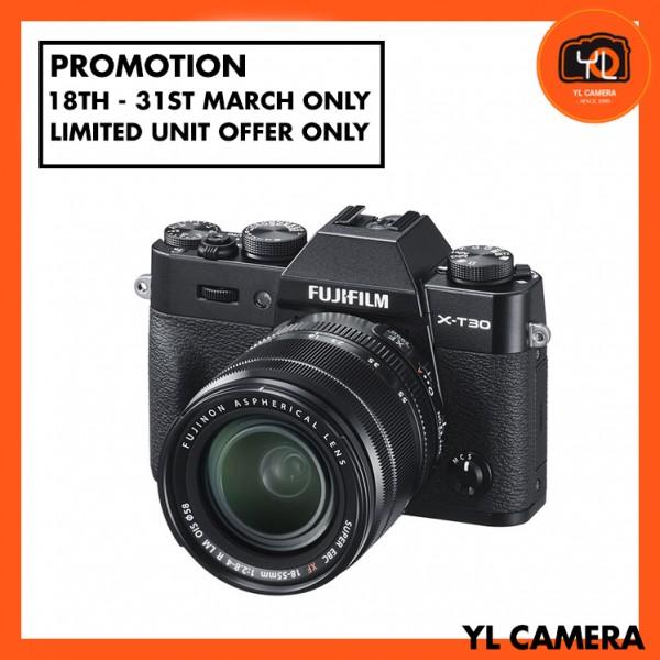 (Promotion) Fujifilm X-T30 (Black) + XF 18-55mm f/2.8-4R LM OIS [Free 32GB SD Card]