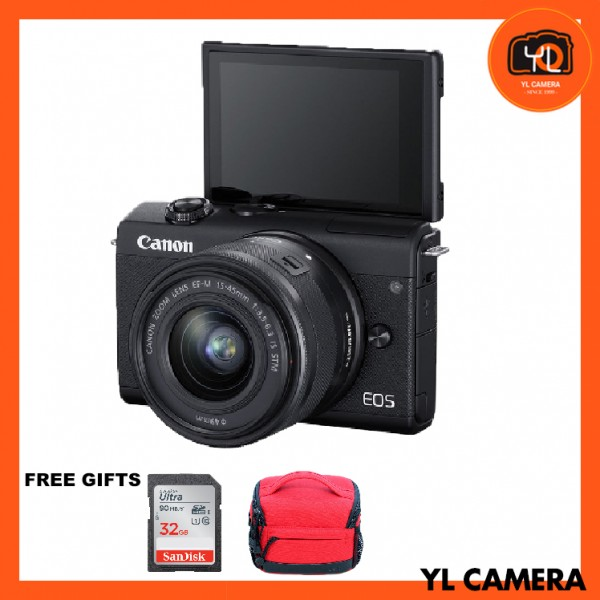(Promotion) Canon EOS M200 + EF-M 15-45mm F/3.5-6.3 IS STM (Black) [Free 32GB SD Card + Camera Bag ]