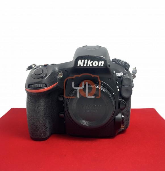 [USED-PJ33] Nikon D810 Body (SC:2700), 95% Like New Condition (S/N:8503917)