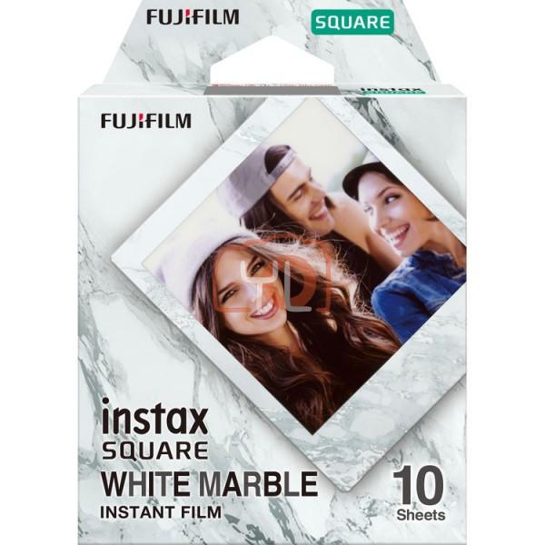 FUJIFILM INSTAX SQUARE Instant Film (White Marble - 10 Exposures)