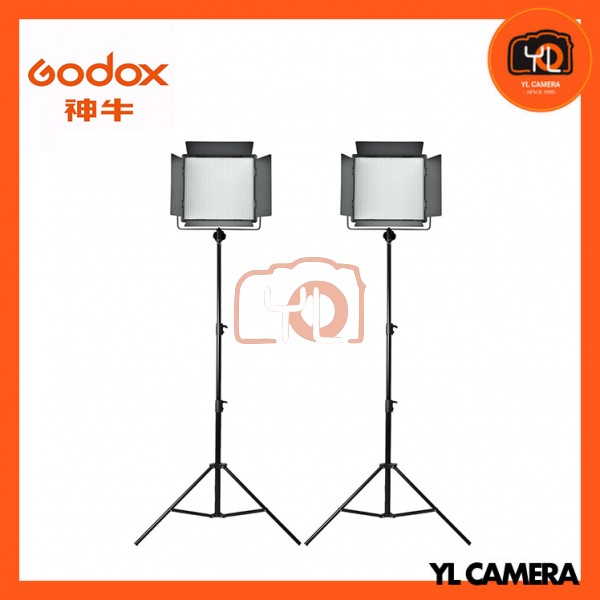 Godox LED1000Bi II Bi-Color DMX LED 2 Light Stand Kit