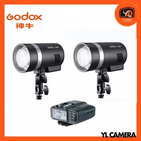 Godox AD300Pro Outdoor Pocket Flash 2 Light Kit + X1T-C TTL Wireless Flash Trigger Transmitter for Canon Combo Set