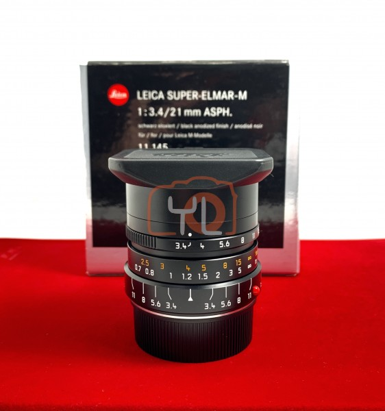 [USED-PJ33] Leica 21MM F3.4 Super Elmar-m ASPH, 99% Like New Condition (S/N:4657662)