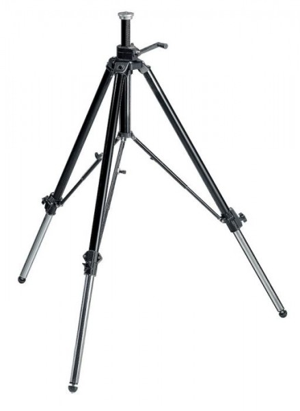 Manfrotto 117B Aluminum/Stainless Steel Professional Video/Movie Tripod
