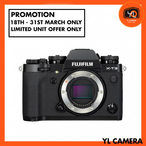 (Promotion) Fujifilm X-T3 (Black) [Free 32GB SD Card UHS-II]