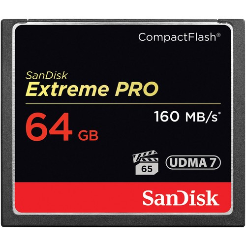 SanDisk 64GB Extreme PRO CF Compact Flash Card (160MB/s)