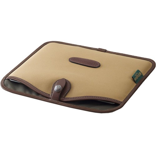 (SPECIAL DEAL) Billingham Tablet Slip (Khaki FibreNyte & Chocolate Leather Trim)
