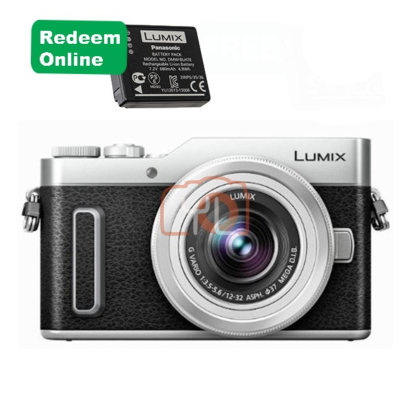 Panasonic Lumix DC-GF10 W/12-32mm - Silver (Free 32GB SD Card & Carrying Case)