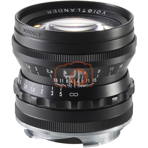 Voigtlander 50mm F1.5 Nokton Aspherical Lens - Black (For Leica M-Mount)