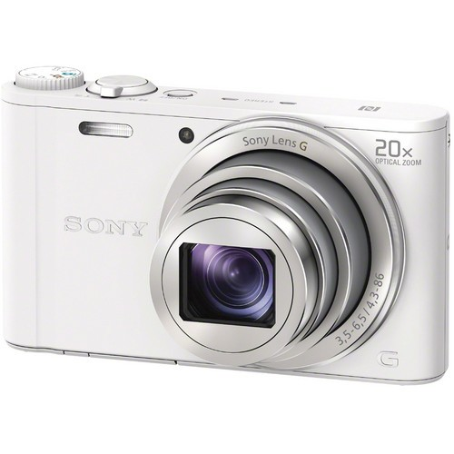 Sony DSC-WX350 Digital Camera - White [Free 16GB SD Card + Camera Case]