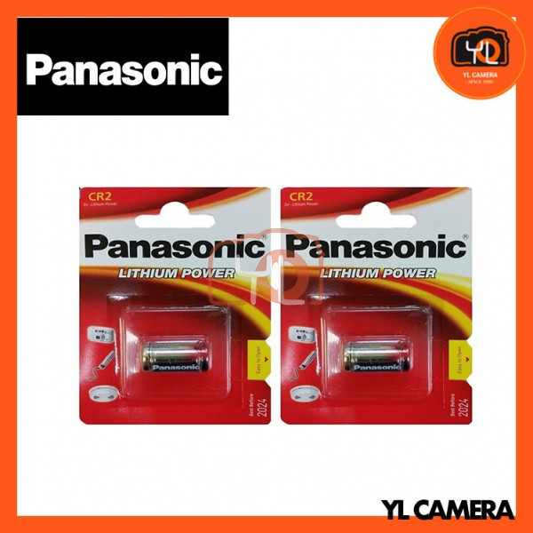 Panasonic CR2 Lithium Battery 2 Pack