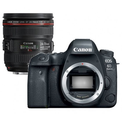 Canon EOS 6D Mark II + EF 24-70mm F/4 L IS USM Lens [Free SanDisk ExtremePro 64GB SD Card]