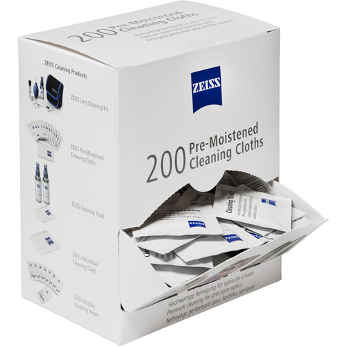 (Pre-Order) ZEISS Pre-Moistened Cleaning Cloths (Box of 200)