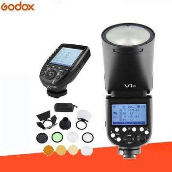 Godox V1C Canon TTL Li-ion Round Head Flash Wiht AK-R1 XPro-C Fro Canon Combo Set