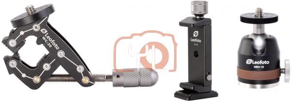 LEOFOTO MC-30 Kit Universal Smartphone Mounting Clamp 3 Piece Set w  Ball Head