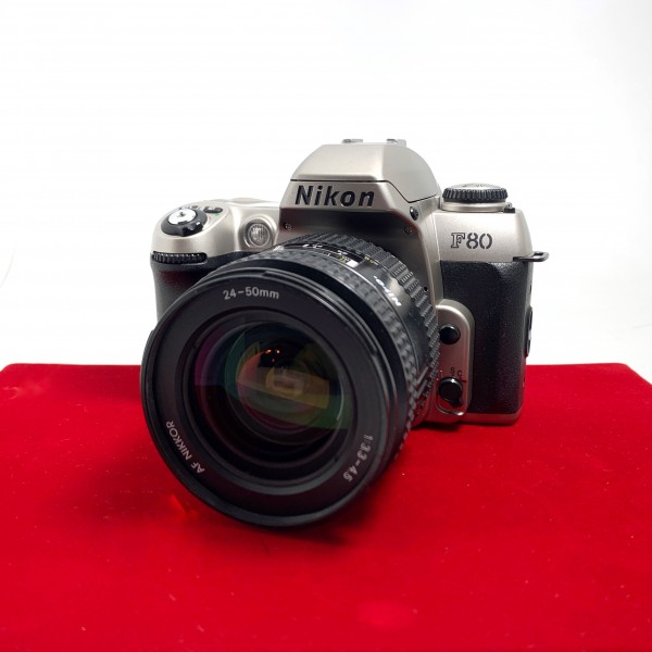 [USED-PJ33] Nikon F80 Film Camera With 24-50MM F3.3-4.5 AF, 80% Like New Condition (S/N:2553067)
