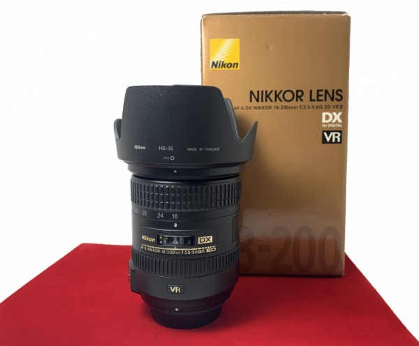 [USED-PJ33] Nikon 18-200MM f3.5-5.6 G AFS VR II, 90% Like New Condition (S/N:42150549)