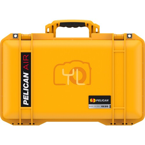 Pelican 1535 Air Wheeled Hard Case with Foam (Yellow)
