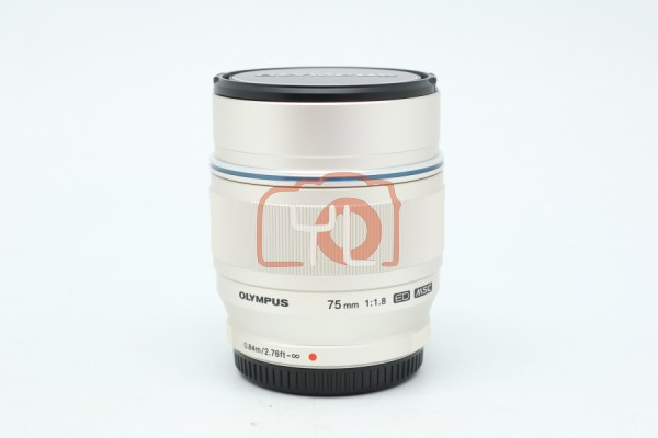 [USED-PUDU] Olympus 75mm F1.8 ED M.Zuiko (SILVER) 95%LIKE NEW CONDITION SN:342015554