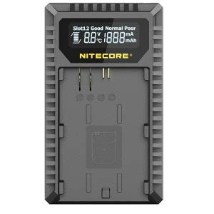 Nitecore UCN3 Dual-Slot USB Travel Charger for Canon LP-E6 And LP-E6N Lithium-Ion Batteries