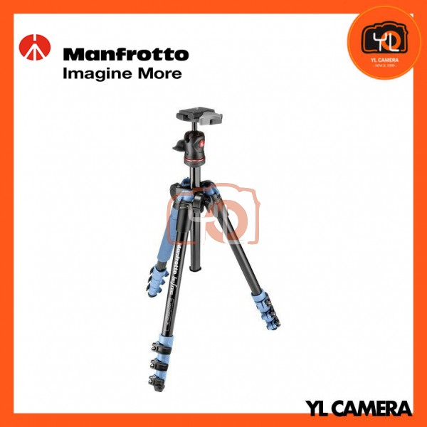 Manfrotto MKBFRA4G-BH BeFree Compact Travel Aluminum Alloy Blue Tripod