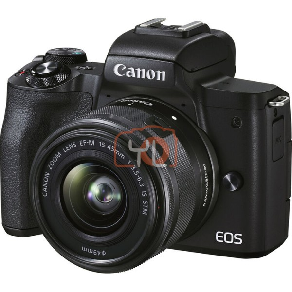 Canon EOS M50 Mark II + EF-M 15-45mm F3.5-6.3 IS STM - Black (Free 32GB SD Card + Camera Bag)