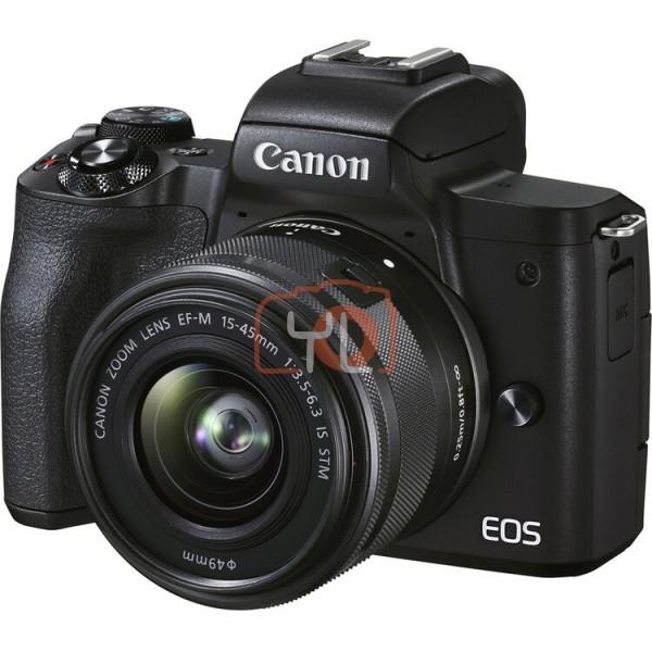Canon EOS M50 Mark II + EF-M 15-45mm F3.5-6.3 IS STM - Black (Free 32GB SD Card + Camera Bag)