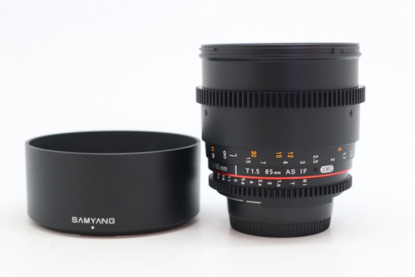 [USED-PUDU] SAMYANG 85MM T1.5 AS IF UMC FOR NIKON 95%LIKE NEW CONDITION SN:F41310396