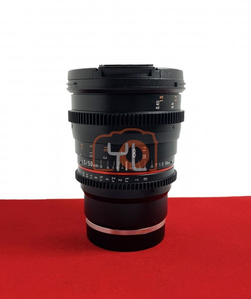 [USED-PJ33] Samyang 50MM T1.5 AS UMC ( Sony ), 95% Like New Condition (S/N:BLP27175)