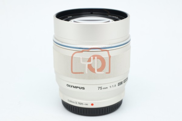 [USED-PUDU] Olympus 75mm F1.8 ED M.Zuiko (SILVER) 95%LIKE NEW CONDITION SN:342016862