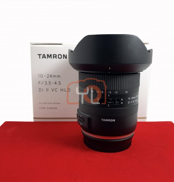 [USED-PJ33] Tamron 10-24mm F3.5-4.5 DI II VC HLD (Canon), 95% Like New Condition (S/N: 101220)