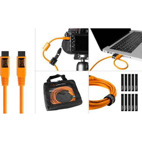 Tether Tools BTK88ORG Starter Tethering Kit with FireWire 9-Pin Cable (Orange)